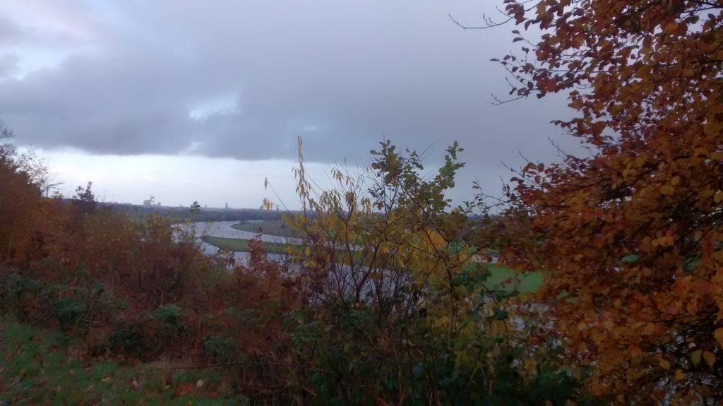 Uitzicht vanaf de oude locatie van landhuis Duno