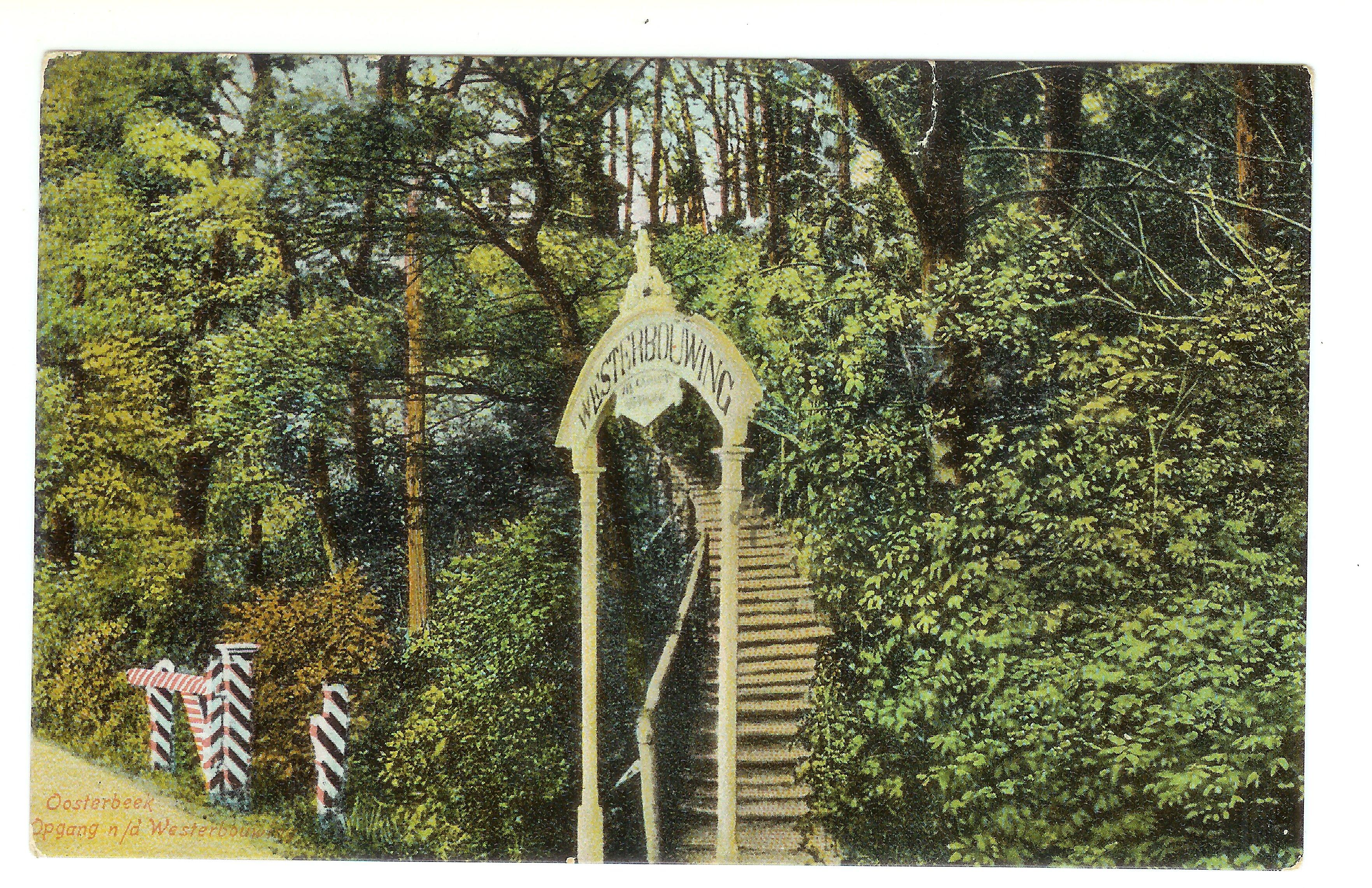 Westerbouwing trap aan Veerweg (26 jun 1908)